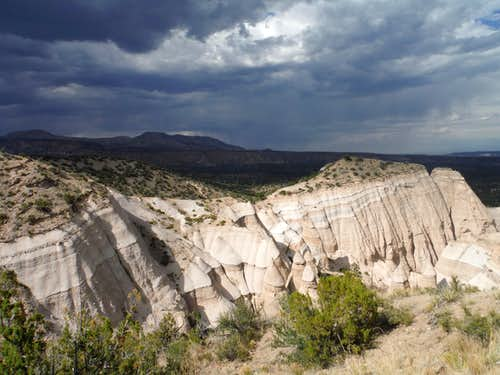 Tent Rocks with Storm