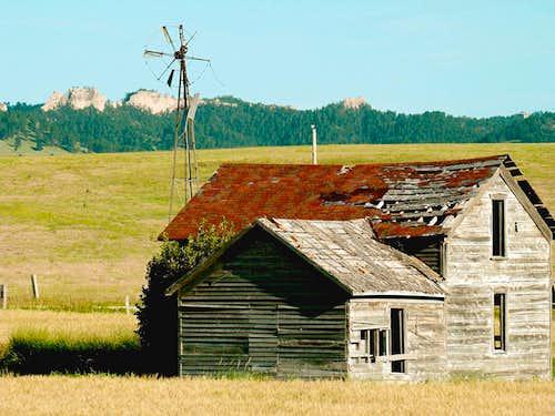 Old Homestead Near Barrel Butte
