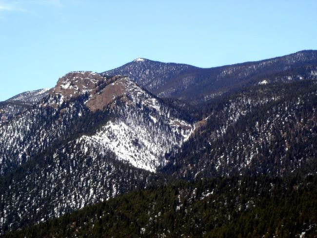 Close up view of Mt. Rosa,...