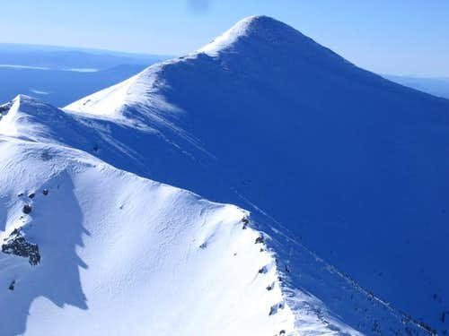 Agassiz Peak early in the...
