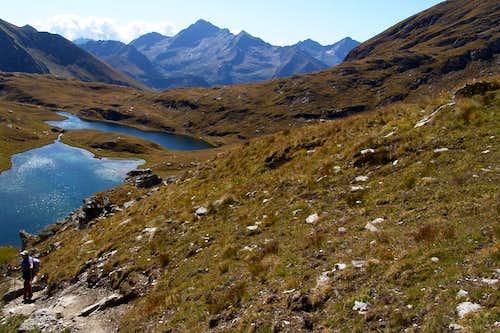 Descending from Corno Bussola to Battle's Loch 2006