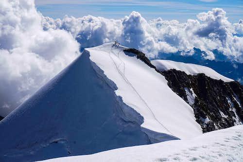Climbers on Piz Palu