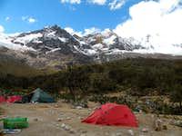 Alpamayo base camp
