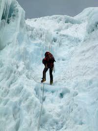 descent Alpamayo high camp