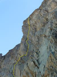 The main part of the route, pitches R7 - R13