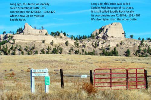 Comparing Steamboat Butte & Saddle Rock