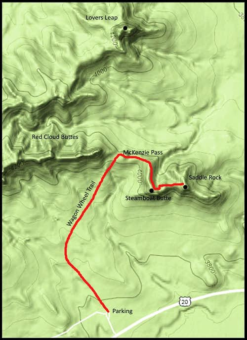 Saddle Rock Route Map