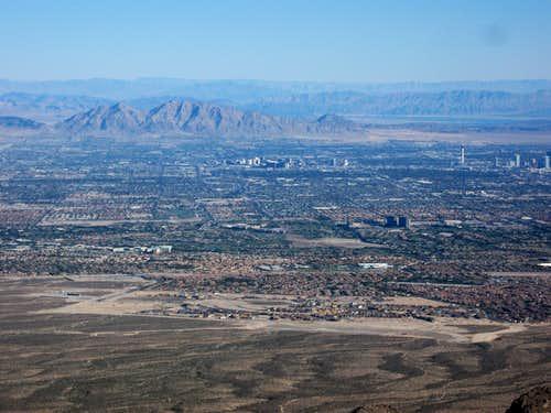 Downtown Las Vegas & Frenchman Mountain