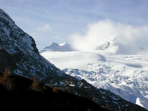 Il ghiacciaio di Chateau Blanc
