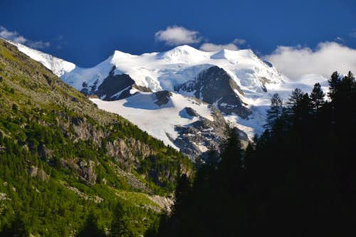 The Bellavista (3883 m) in the Bernina group