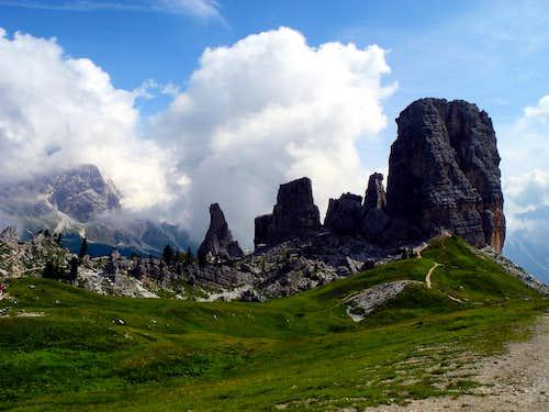 Cinque Torri from Rifugio Scoiattoli