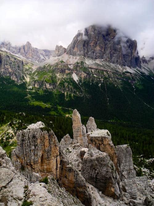 Tofana di Rozes and Cinque Torri