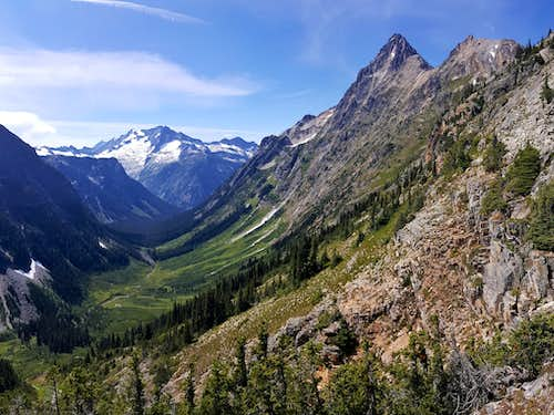 Fisher Creek, Mt Logan, and Mesahchie Peak