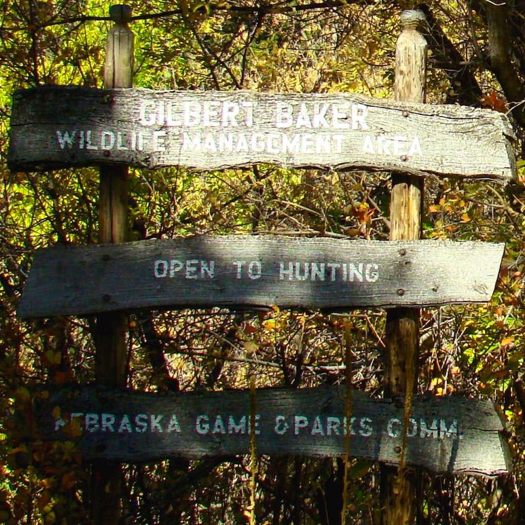 Gilbert-Baker Wildlife Area Sign