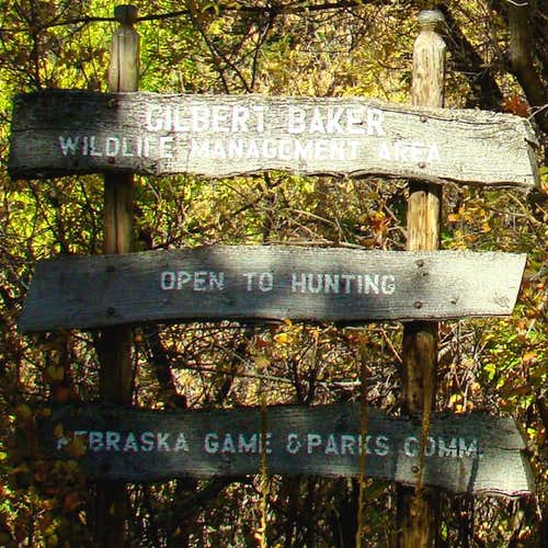 Gilbert-Baker Wildlife Area Sign
