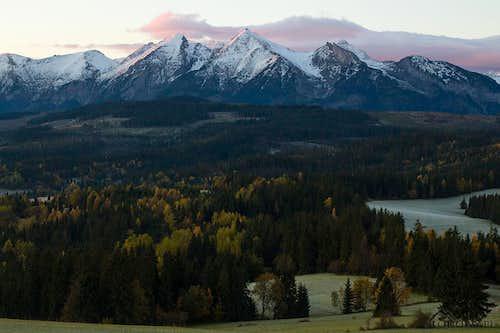 Belianske Tatras at sunrise