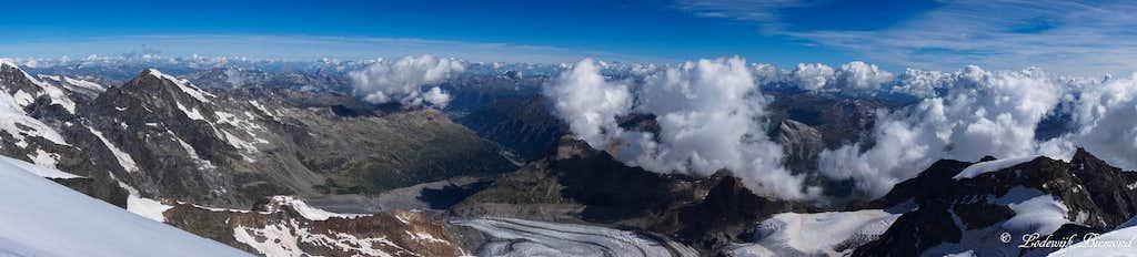 Piz Palu Summit Panorama