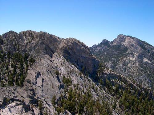 McFarland Peak (right) and...