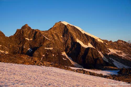 Piz Morteratsch (3754m) Alpenglow