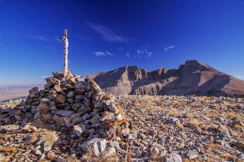 Wheeler Peak From Bald Mountain Summit
