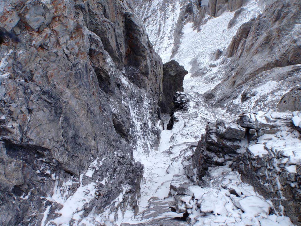 Looking down 5.6 gully from station