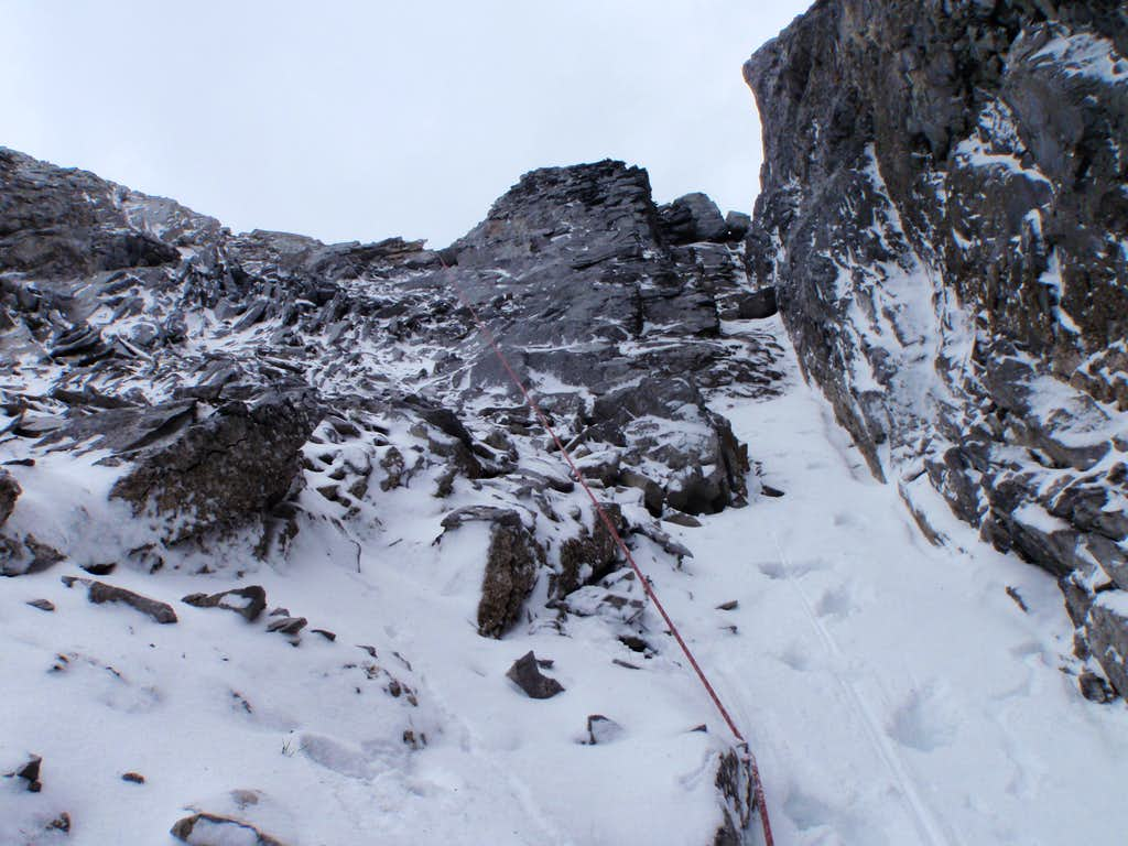 Heading to station from gully