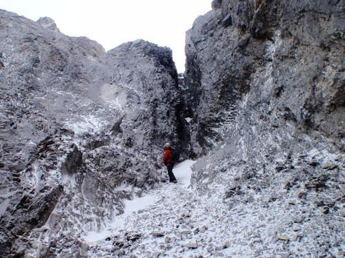 Nearing gully