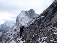 Traverse to ridge low point
