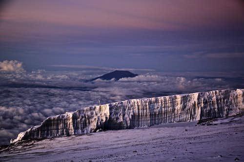 Kili glaciers and Mt. Meru