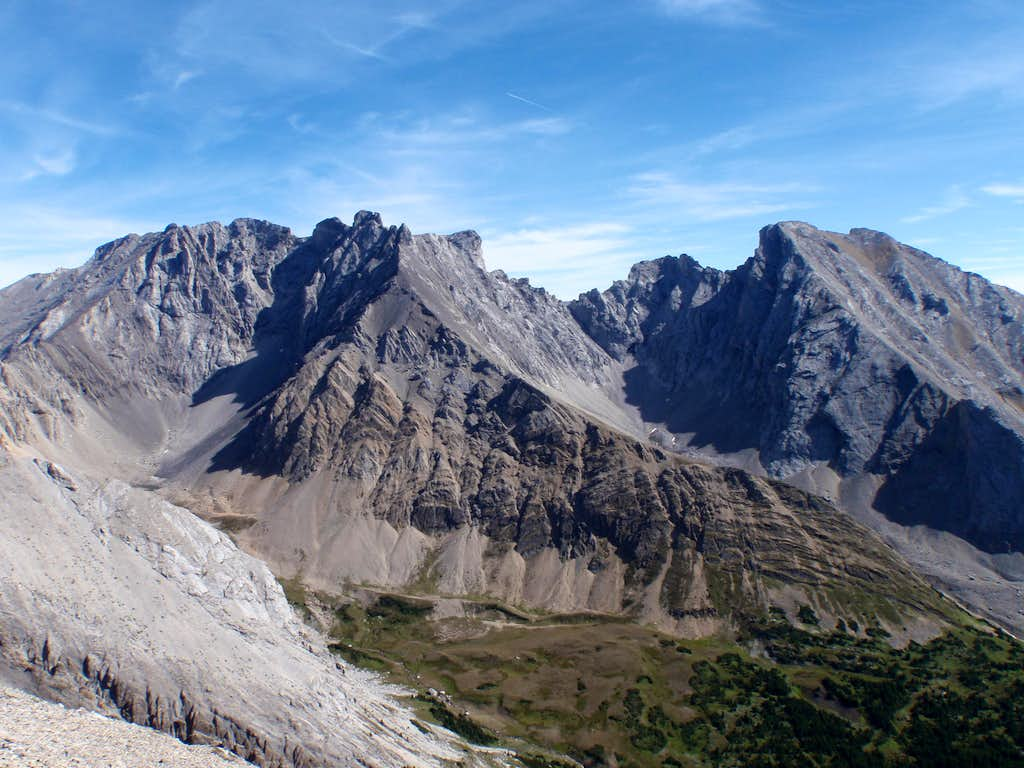 Tombstone Mtn. (l) and 'South Tombstone' (r)
