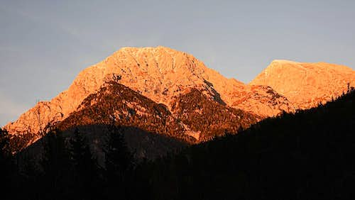 Kocna and Grintovec from Kokra valley
