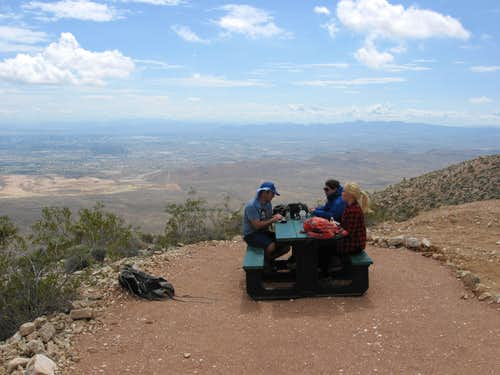 Picnic Bench Near the Summit