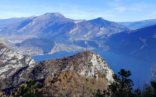 Cima Nodice and Garda Lake Northern shore