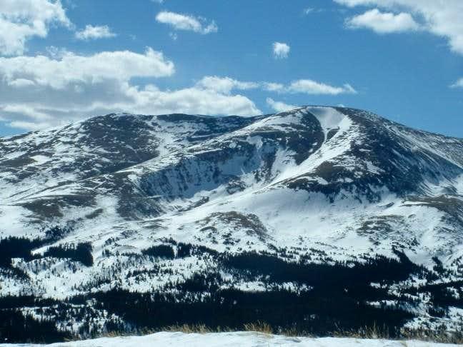 4/3/05: Mount Bross as seen...