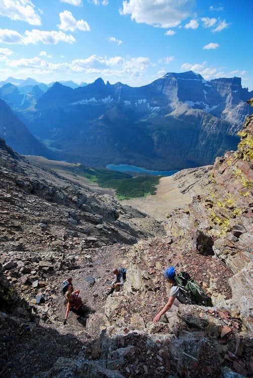 descending Mount Merritt