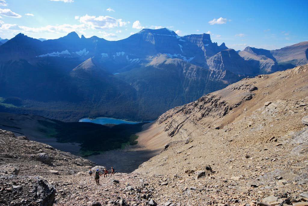 descending the northwest slope of Mount Merritt