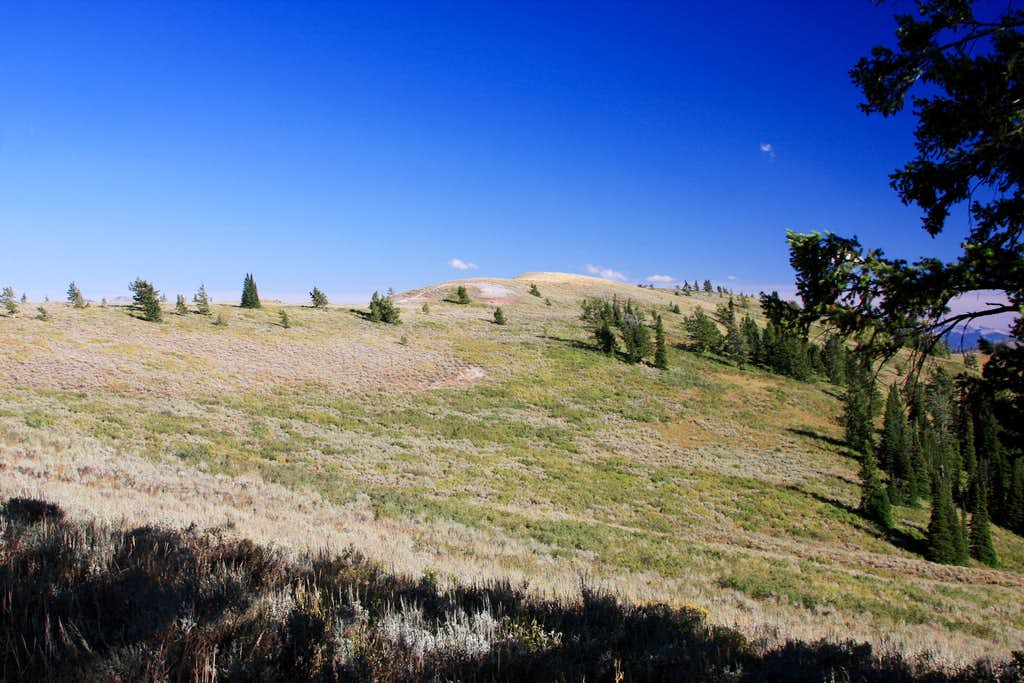approaching the summit ridge of Elk Mountain
