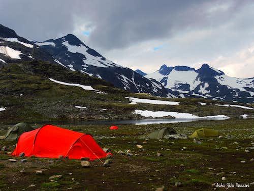 Campsite near Leirvassbu