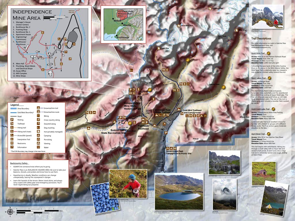 Hatcher Pass Alaska Area Map