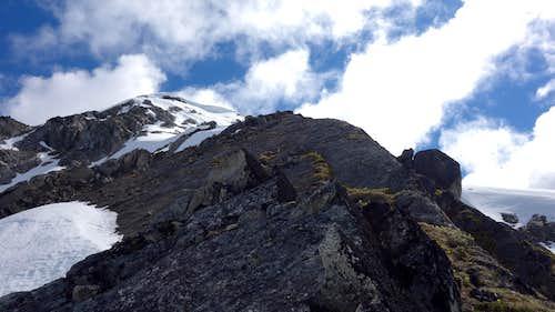 The ramp on Lynx Peak