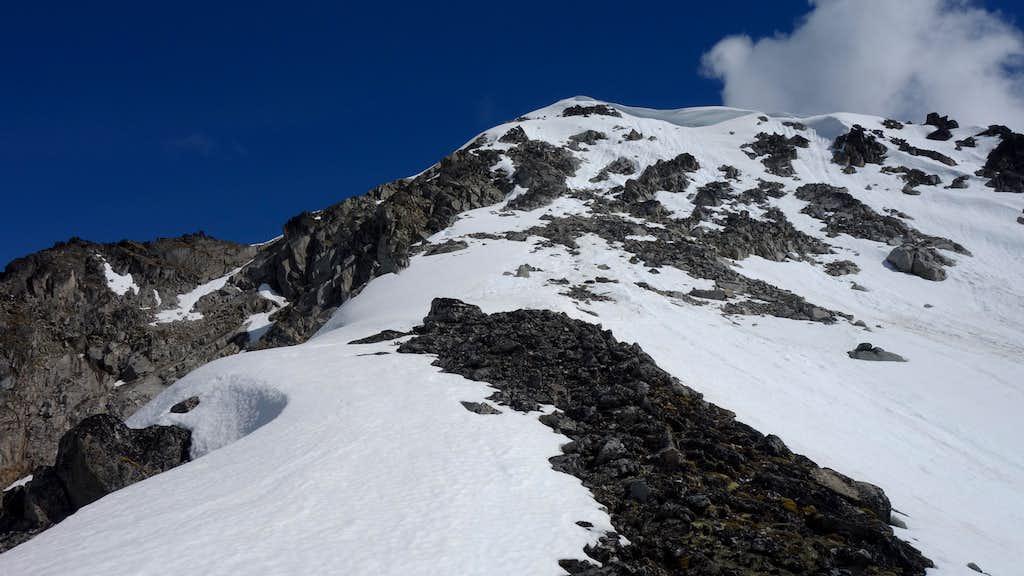 Upper slopes on Lynx Peak