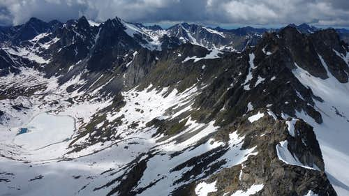 Lynx Peak NW Ridge overview
