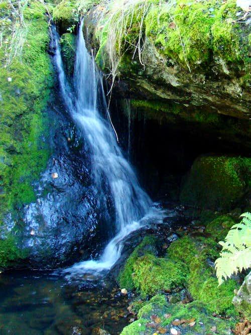 Small Waterfall Along Trail 14