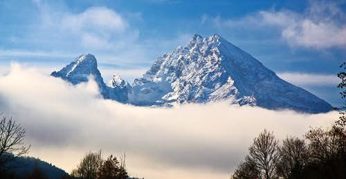 His Majesty, the Watzmann, throning above the clouds