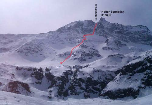 ski descent of North Face