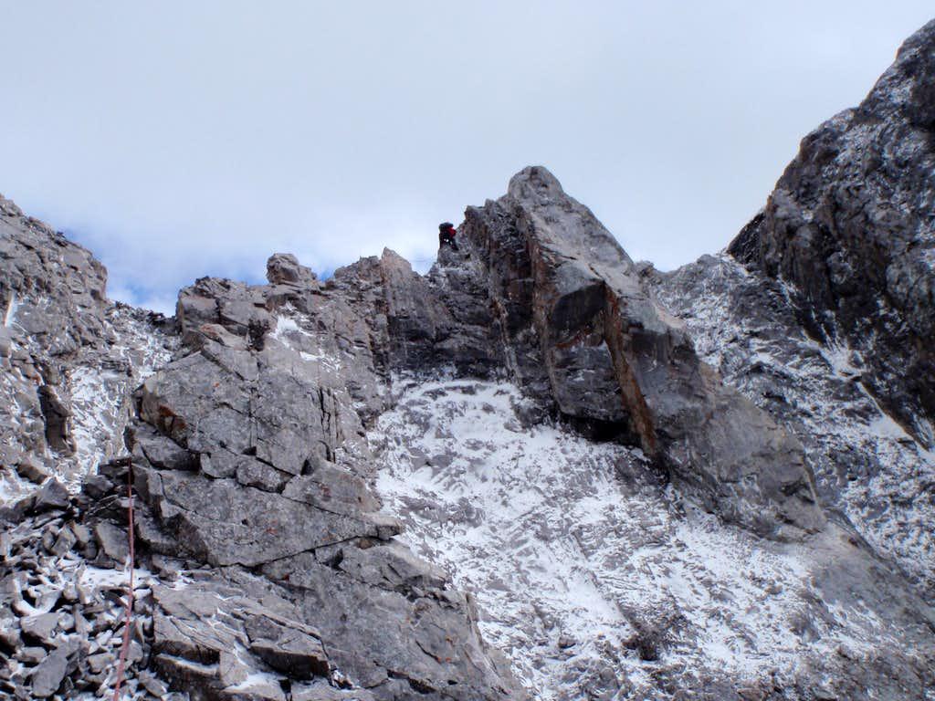 Rock towers on upper ridge