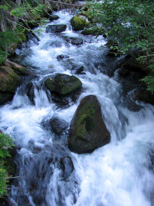 Cascades Along Stuart Lake Trail
