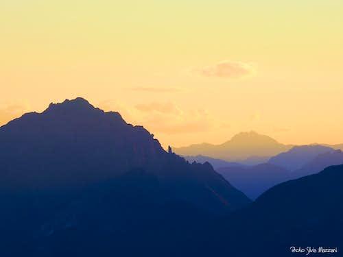 Sundown from Passo Vizze