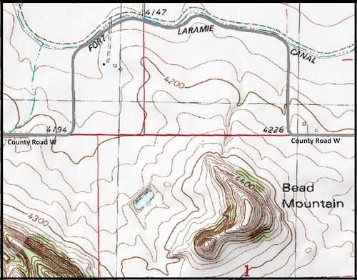 Bead Mountain Map