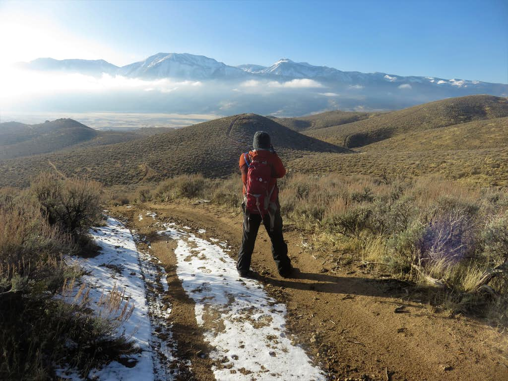 View of the Sierra Nevada from Cottontail Mountain